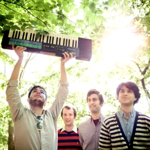 Rostam Batmanglij, Chris Baio, Christopher Tomson, and Ezra Koenig of Vampire Weekend
